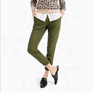 J. Crew Point Sur Seaside Jogger Pant Linen Tencel